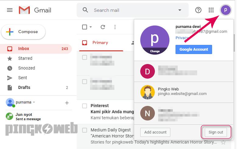 5 Cara Logout Keluar Dari Akun Gmail Di Hp Laptop Pingkoweb Com